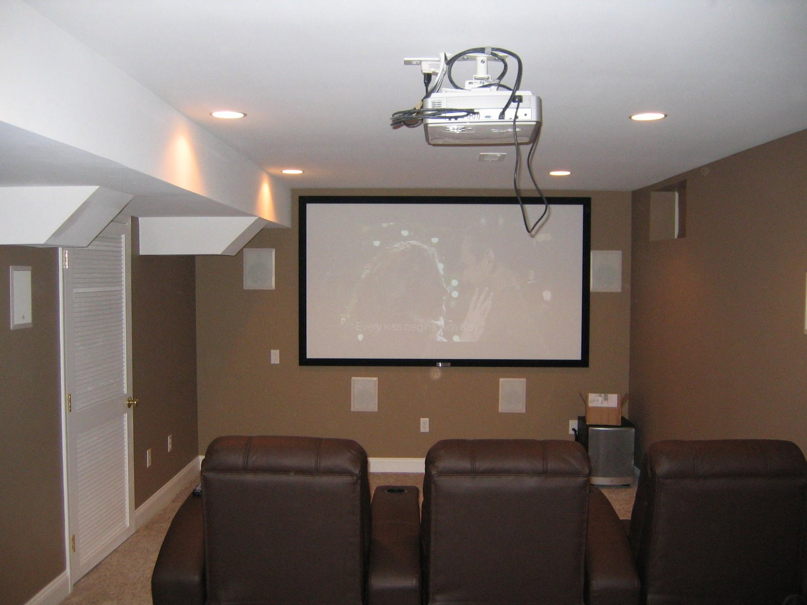 latest home theater installation. Black Bedroom Furniture Sets. Home Design Ideas