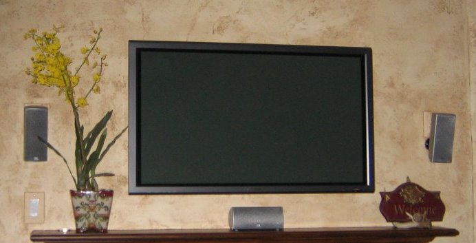 plasma tv and in wall ir receiver